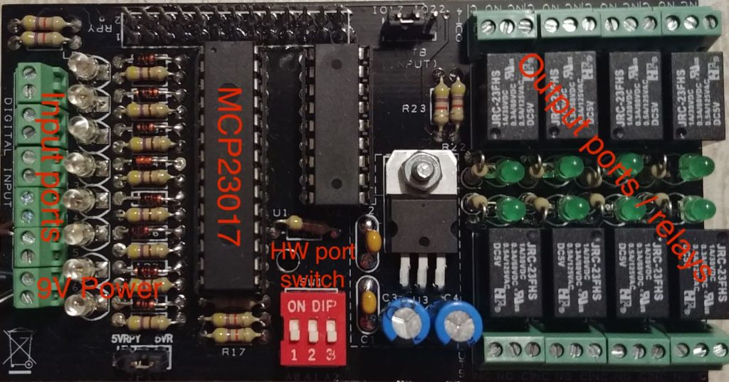 MCP23017 based I/O board